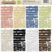 Double Dutch ABC Cardstock Stickers By Lily Bee