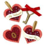 Layered Glittering Hearts - Jolee's Parcel