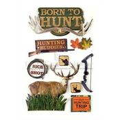 Born To Hunt 3D Stickers - Paper House