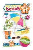 Lifes A Beach 3D Stickers - Paper House