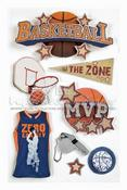Basketball 3D Stickers - Paper House