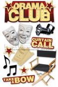 Drama Club 3D Stickers - Paper House