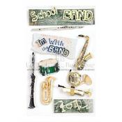 School Band 3D Stickers - Paper House