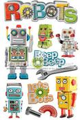 Robots 3D Stickers - Paper House