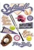 Softball 3D Stickers - Paper House