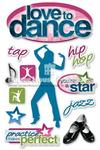 Love To Dance 3D Stickers - Paper House