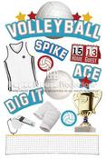 Volleyball 3D Stickers - Paper House