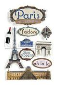 Paris 3D Stickers - Paper House