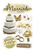 Just Married 3D Stickers - Paper House