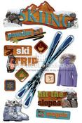 Skiing 3D Stickers - Paper House