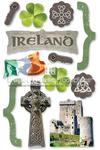 Ireland Chipboard 3D Stickers - Paper House