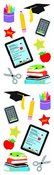 School Stuff Sticker Strip - Mrs Grossman