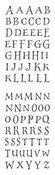 Decorative Alphabet Sticker Strips - Mrs. Grossman