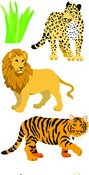 Wild Cats Sticker Strips - Mrs. Gorssman