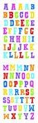 Block Multi Color Alphabet Sticker Strips - Mrs. Grossman