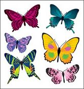 Painted Butterflies Stickers - Classpak - Sandylion