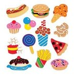 Junk Food Stickers - Classpak - Sandylion