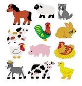 Farm Animals Stickers - Classpak - Sandylion