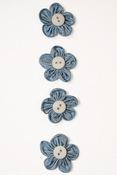 Blue Button Flower Stickers - Fluerettes - Mark Richards