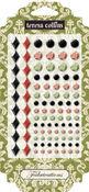 Linen Rhinestone Stickers - Fabrications - Teresa Collins