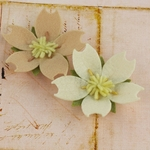 Oatmeal Fabric Flowers - Merelle Collection - Prima