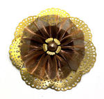 Gold Pin Clip Fleur - Laliberi