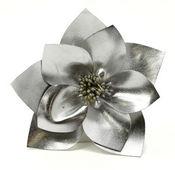 Silver Metallic Pin Clip Fleur - Laliberi