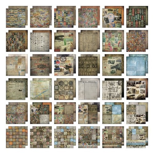 Tim Holtz Ideaology - 12 x 12 Paper Stash Destinations