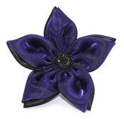 Purple & Black Pin Clip Fleur - Laliberi