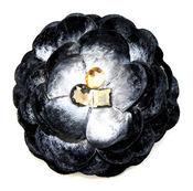 Dark Blue Pin Clip Fleur - Laliberi