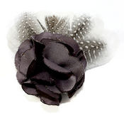 Gray Flower Pin Clip Fleur - Laliberi