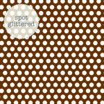 Bon Bon Glitter Paper - Candy Dots - Doodlebug