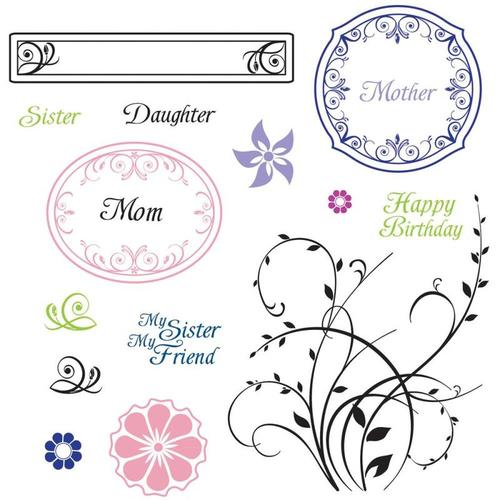 Family Garden Cling Mounted Stamps - JustRite Stampers