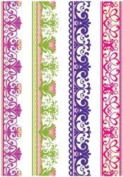 Lace Borders Two Cling Mounted Stamps - JustRite Stampers