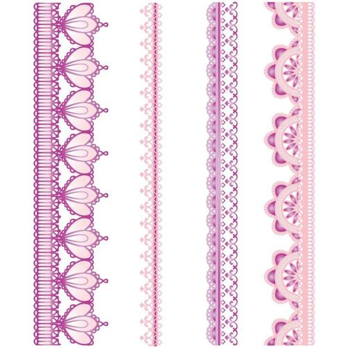 Lace Borders Cling Mounted Stamps - JustRite Stampers