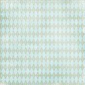 Green Argyle Paper - Cest La Vie Collection - Melissa Frances