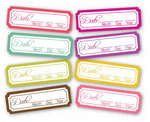 Spring Is In The Air Date Tabs - Chic Tags