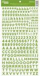 Gumbo Green Alphabean Stickers - Jillibean Soup