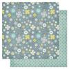 Tweed Paper - Indigo Bleu Collection - Pink Paislee