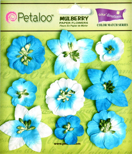 Marine Blue Mini Floral - Coredinations
