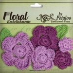 Purples Crochet Flowers - Petaloo