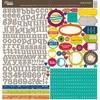 Cardstock 12x12 Sticker Sheet - Neopolitan Bean Bisque - Jillibean Soup