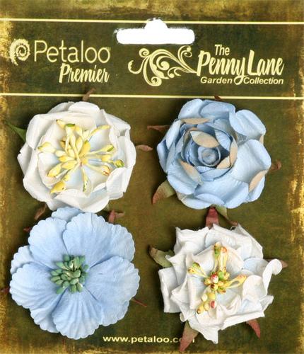 Slate Blue - Ruffled Roses - Petaloo