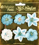 Teal - Small Flowers - Petaloo