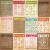 Bingo Cards/Stripes Paper - Fabulous - Simple Stories