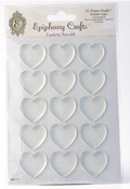 Clear Heart Bubble Caps - Epiphany Crafts