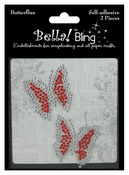 Red Bling Butterflies - Bella Bling - Ruby Rocket