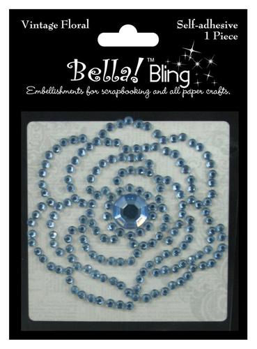 Blue Vintage Floral - Bella Bling - Ruby Rocket