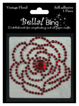 Red Vintage Floral - Bella Bling - Ruby Rocket