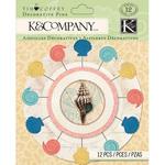 Travel Decorative Pins - K & Company